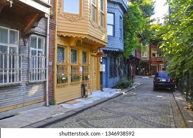 07/04/2016- Kuzguncuk, Istanbul, Turkey.  Kuzguncuk is an old region with colorful old houses in the Anatolian side of the city.