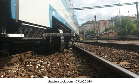 07.08.2017;Hungary; Budapest; South railway station; Train accident, derailment in Hungary. Derailment a train on a Hungarian railway station. 07.august.2017.