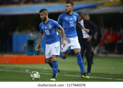 07.09.2018. Bologna, Italy: LORENZO INSIGNE in action during the  match UEFA Nations League , Group 3, football match between ITALY V POLAND in DALL'ARA STADIUM IN BOLOGNA.