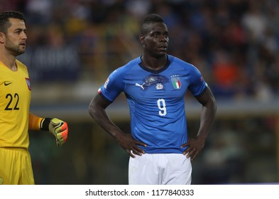07.09.2018. Bologna, Italy: MARIO BALOTELLI in action during the  match UEFA Nations League , Group 3, football match between ITALY V POLAND in DALL'ARA STADIUM IN BOLOGNA.