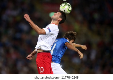 07.09.2018. Bologna, Italy:GRZEGORZ KRYCHOWIAK  in action during the  match UEFA Nations League , Group 3, football match between ITALY V POLAND in DALL'ARA STADIUM IN BOLOGNA.