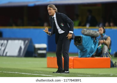 07.09.2018. Bologna, Italy:ROBERTO MANCINI  in action during the  match UEFA Nations League , Group 3, football match between ITALY V POLAND in DALL'ARA STADIUM IN BOLOGNA.