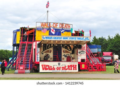 07.12.2008 Kent Uk. Wall of death fairground attraction, kent county show