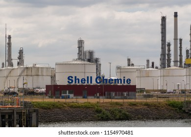07-2018. Moerdijk, the Netherlands. shell refinery, one of the largest in the world for the manufacture of chemical products.
