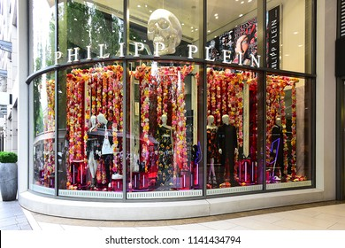 69a7fb91281 Düsseldorf,GERMANY-JUNE 07,2018: PHILIPP PLEIN fashion store.Philipp Plein
