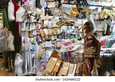 08 June 2019; Bangkok Thailand: Shop Interior at Chatuchak Jatujak JJ Weekend Market, The largest market in the world.