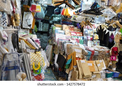 08 June 2019; Bangkok Thailand: Packaging and Accessories Shop at Chatuchak Jatujak JJ Weekend Market, The largest market in the world.