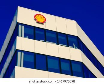 08/05/2019 - Krakow, Poland: Shell logo on the office building