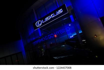 08/11/2018 - Kraków, małopolskie / Poland: Lexus Car Dealer on Aleja Pokoju Street. Lexus is luxury brand of Toyota