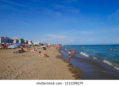 09 june 2018-caorle-italy-Caorle beach, beautiful Venetian city,italy