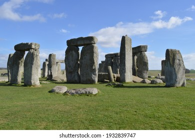 09 March 2017, London - The photo of seven wonders of the world, The Stonehenge during spring time.