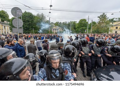 09 Sep 2018  The rally Navalny in St. Petersburg. Protest against pension reform.