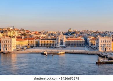 09.11.2018, Lisbon, Portugal. Comércio Plaza Lisboa. Lisbon commerce square