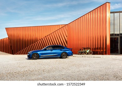 Żory/Poland - 09.15.2019: BMW 330i with M Performance package, in front of the Fire Museum. G20 model - 258 hp
