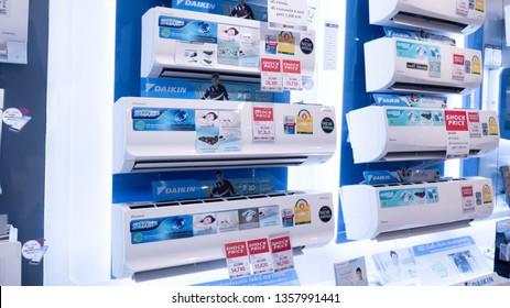 1 April 2019 : Daikin air conditioner was selling at The Mall Bangkok Thailand.