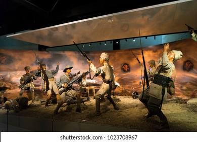 1 Aug 2017 A war scene from the Battle of Gallipoli in Canakkale legend promotion center. Gallipoli, Turkey