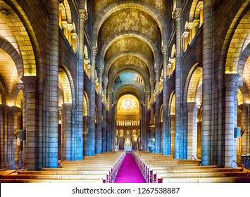 1 August 2018 - Monaco, Monaco - Inside the cathedral of Monaco - Image