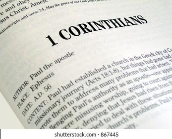 1 Corinthians Book Of The Bible
