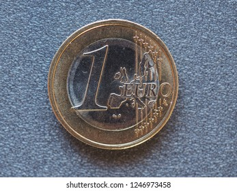 1 euro coin money (EUR), currency of European Union