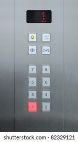 1 floor on elevator buttons