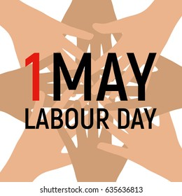 1 May Labour Day Poster or Banner.  Illustration