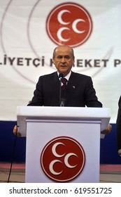 1 October 2010. Kars, Istanbul. Devlet Bahceli is a Turkish politician who has been the chairman of the Nationalist Movement Party (MHP) since 6 July 1997.