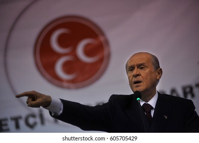 1 October 2010. Kars,Turkey. Devlet Bahceli  is a Turkish politician who has been the chairman of the Nationalist Movement Party (MHP) since 6 July 1997.