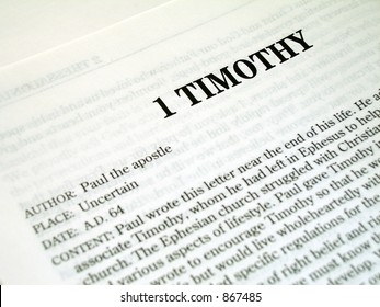1 Timothy Book Of The Bible