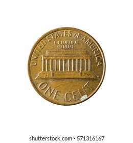 1 united states cent coin (1977) obverse isolated on white background