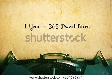 1 Year = 365