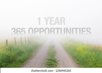 1 year equals 365 opportunities, inspirational quote for new years resolutions