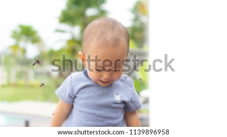 1 year old Baby play on the park and has allergies with mosquitoes bite .Mosquito