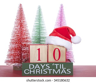 Until Christmas 10 Weeks Till Christmas.Shopping Days Until Christmas Images Stock Photos Vectors