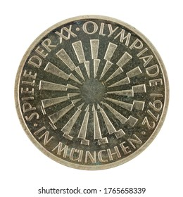 10 german mark coin special edition (1972) obverse isolated on white background