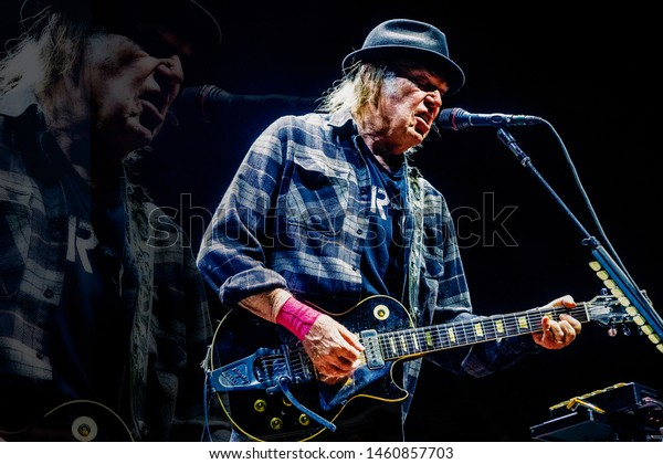 10 July 2019. Ziggo Dome, Amsterdam, The Netherlands. Concert of Neil Young + Promise Of The Real