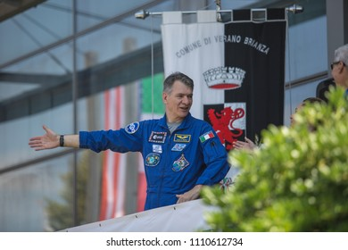 10 June 2018 - Verano Brianza (Italy) Celebrations for the return home of the Italian astronaut Paolo Nespoli, of the European Space Agency, with the presence of colleagues from the ISS-53 mission