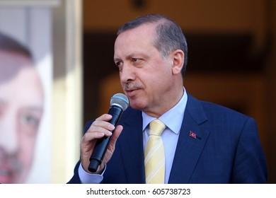 10 March 2013. Istanbul, Turkey. Recep Tayyip Erdogan, 12th President of Turkey.