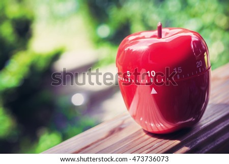 10 Minute Kitchen Egg Timer Apple Stock Photo (Edit Now