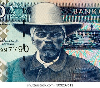 10 Namibian dollars bank note of Namibia. Namibian dollars is the national currency of Namibia