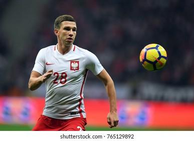 10 NOVEMBER, 2017 - WARSAW, POLAND: International Friendly game before World Cup Rusia 2018 Poland - Uruguay o/p Jakub Swierczok (Poland)