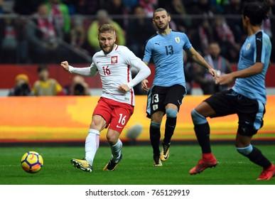 10 NOVEMBER, 2017 - WARSAW, POLAND: International Friendly game before World Cup Rusia 2018 Poland - Uruguay o/p Jakub Blaszczykowski (Poland)