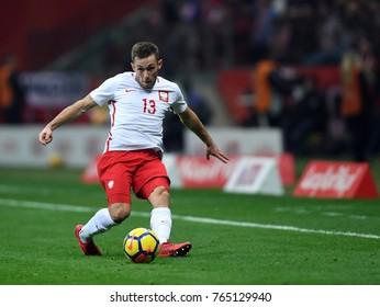 10 NOVEMBER, 2017 - WARSAW, POLAND: International Friendly game before World Cup Rusia 2018 Poland - Uruguay o/p Maciej Rybus (Poland)