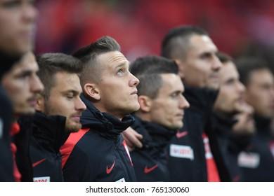 10 NOVEMBER, 2017 - WARSAW, POLAND: International Friendly game before World Cup Rusia 2018 Poland - Uruguay o/p Piotr Zielinski (Poland)
