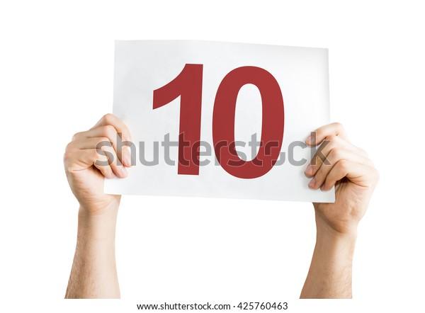 10 carteles aislados sobre fondo blanco