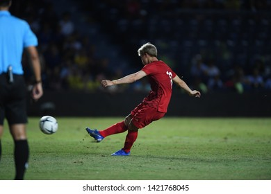 Buriram-Thailand-8Jun2019:Nguyễn Công Phượng  #10 Player of vietnam in action during king's cup final match against Curacao at chang arena,buriram,thailand