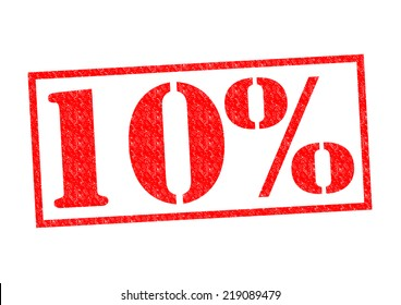 10% Rubber Stamp over a white background.