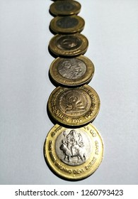 10 rupees coin of india, sikka