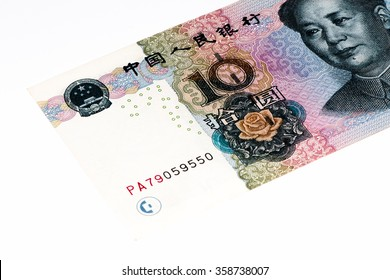 10 yuan bank note of China. Yuan is the national currency of China