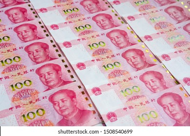 100 Chinese Renminbi Banknotes Background