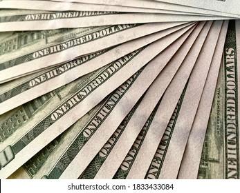 100 dolar bills close up shot - Shutterstock ID 1833433084